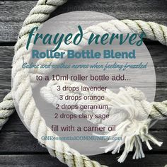 Frayed nerves roller bottle
