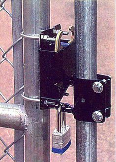 Chain Link Fence Gate Latch Lock 2 Goat House Chain