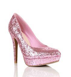 Light Pink Glitter Pumps
