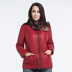 Nice High-Quality Quilted Casual Autumn/Winter Coat 4 Colors L-5XL