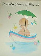 old fashioned babyshower invites | vintage baby shower invitations invites cards boy girl umbrella ...