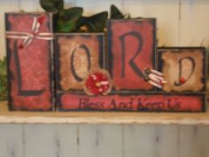 Lord Wood Block Sign by ktuschel on Etsy, $20.00
