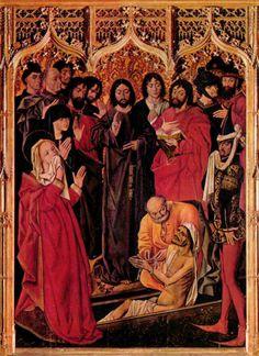 Triptyque de la Résurrection de Lazare, panneau central (1461, Galleria degli Uffizi, Firenze)