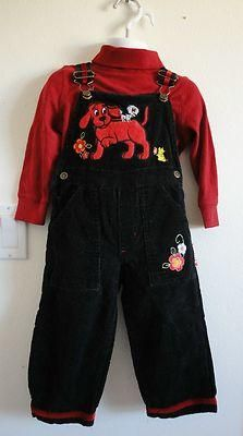 Size 2T Girls ~ *Clifford/Circo - Clifford The Dog Cord Overalls + Sweater! Cute