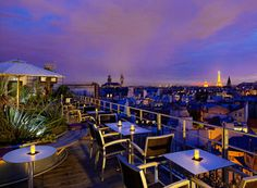 « 43 Up the Roof » bar terrasse du Holiday Inn  4, rue Danton – 75006 Paris  Du mardi au samedi de 16h à minuit  Tel. : 01 81 69 00 60  www.holidayinn.com
