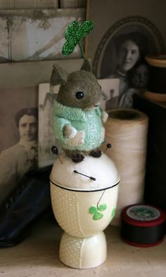 pin cushion - no matter how many times I see this little Fella, I fall in love all over again!