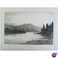 Loch Achray By R F King Limited Edition Signed Etching Listing in the Modern (1900 to 1989),Drawings,Art Category on eBid United Kingdom
