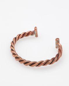 Cause And Effect Copper Twist Cuff