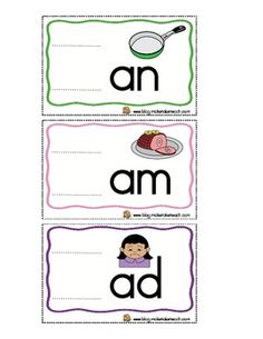 18 FREE Word Sliders!  Pefect for teaching word families!  Use in literacy centers or during small group instruction