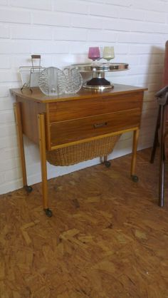 60/70s sewing cupboard. Now used as table