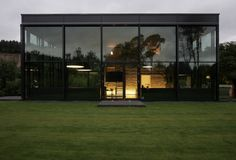 Pavilniai Regional Park House in Lithuania, contemporary Vilnius home - design by G.Natkevičius and Partners - Lithuanian house, Vilnius property: architecture Cultural Architecture, Space Architecture, Contemporary Architecture, Minimal Architecture, Glass House Design, Journal Du Design, Landscape And Urbanism, Interior And Exterior, Interior Design