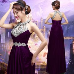 Long Prom Dresses 2017 Sexy Women Elegant Floor-length Formal Wedding Party Bridesmaid Prom Gown,94