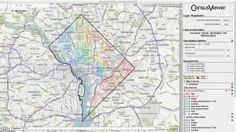 Map of DC used in the 2000 census Env. Mgmt, both Thematic and Gen Ref, and both visualization and instrumental