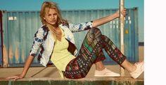 Haine Bershka dama din colectia Martie 2013 - Style And The City Moda Online, Pop Fashion, Fashion News, Moda Pop, New Hair, Ideias Fashion, Harem Pants, Kimono Top, Cover Up