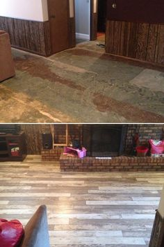 "Bull Barn Oak Basement Upgrade! ""This flooring is gorgeous! My pic doesn't do it justice. We had it installed in our basement. Very satisfied with our purchase, and the price was great."" - Ericka, KS http://remodel.lumberliquidators.com/detail/12mm-bull-barn-oak-laminate-flooring-ellsworth-ks"
