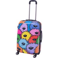 Purple Graffiti Geometry Decor Traveler Lightweight Rotating Luggage Protector Case Can Carry With You Can Expand Travel Bag Trolley Rolling Luggage Protector Case