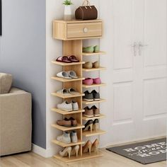 Double Shoe Racks scarpiera organizer Wooden Home Furniture estanteria para zapatos For Living room Shoe Cabinet With Drawer Space Saving Furniture, Home Decor Furniture, Living Room Furniture, Furniture Design, Shoe Rack Living Room, Wooden Shoe Storage, Wooden Shoe Organizer, Shoes Stand, Room Doors