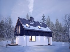 Projekt Groszek (80,39 m2) to nowość w ofercie przedstawiona w zimowej scenerii. Pełna prezentacja projektu znajduje się na stronie: https://www.domywstylu.pl/projekt-domu-groszek.php. #groszek #domy #dom #houses #home #domywstylu #mtmstyl #projektdomu #projektydomow #architektura #architecture #projektygotowe #domytradycyjne #design #insides