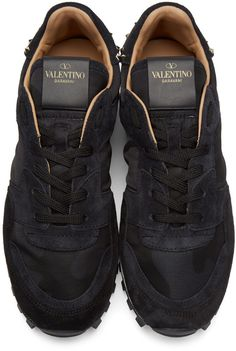 low priced a54cb 4cca5 Valentino - Black Rockstud Sneakers Valentino Black, Valentino Men,  Valentino Sneakers, Luxury Shoes