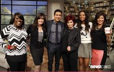 Television host and actor Mario Lopez visits the ladies of THE TALK, Friday, April 4, 2014 on the CBS Television Network. From left, Sheryl Underwood, Marie Osmond, Mario Lopez, Sharon Osbourne, Aisha Tyler and Julie Chen
