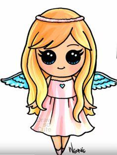 Cute people drawings More at @ Kawaii Girl Drawings, Cute Girl Drawing, Disney Drawings, Cartoon Drawings, Drawing Drawing, Animal Drawings, Arte Do Kawaii, Kawaii Art, Kawaii Disney