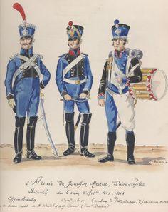Comandante di battaglione, conduttore e tamburo del treno di artiglieria di Murat