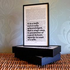 Pride and Prejudice Upcycled Book Art A Truth by wallenvyart, £22.70