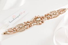 Swarovski Bridal Sash ROSE GOLD Wedding Sash Wedding Belt Rhinestone Sash Crystal Sash Bridal Accessories Wedding Accessories by beaubouquet on Etsy https://www.etsy.com/listing/107133318/swarovski-bridal-sash-rose-gold-wedding