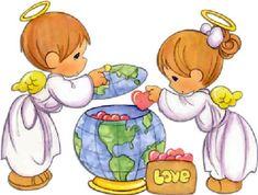 angelito precious moments de la paz