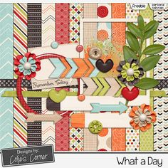 Quality DigiScrap Freebies: What A Day mini kit freebie from Designs by Colie's Corner