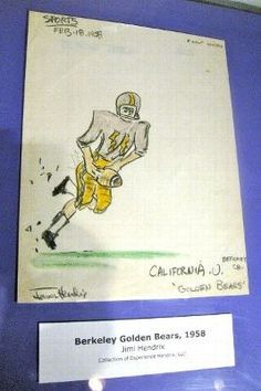 15 - Jimi Hendrix Drawing of USC Football Player