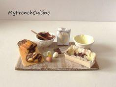 Marble cake preparation board - 1/12 Handmade miniature food