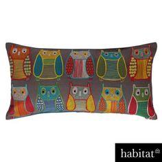 Habitat - Embroidered Owl Cushion