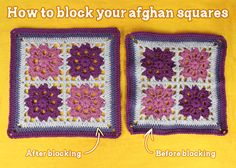 How To Block Your Afghan Squares | Gleeful Things