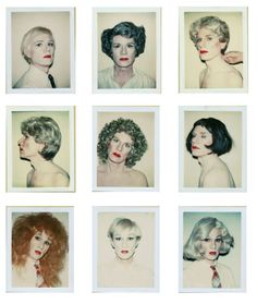 Warhol in drag, of course.
