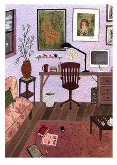 Un racó especial per a escriure, un racó nostre on sempre estem a gust, un lloguet dins de casa que ens independitza. (il·lustraci...