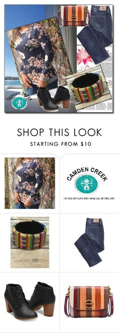 """Camden Creek-II/15"" by dzemila-c ❤ liked on Polyvore featuring Folio, 12PM by Mon Ami and Tory Burch"