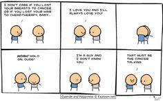 The Cancer Talking. Cyanide and Happiness by Kris Wilson, Rob DenBleyker and Matt Melvin.