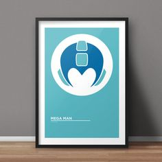 Mega Man Poster Game Poster Minimalist Poster Flat by RvECreative
