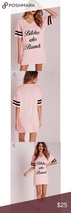 """Bitches Who Brunch Oversize Nightshirt Size XL Oversized """"Bitches Who Brunch,"""" Night Shirt. Brand New without Tags and is in perfect condition. Super soft and absolutely adorable. Similar design to Wildfox & Missguided but is not Wildfox brand. Wildfox Intimates & Sleepwear Pajamas"""