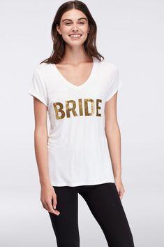 Bride V-Neck Tee Style A032014679