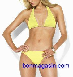 74cf9a65d28 maillot de bain Ralph Lauren femme jaune Maillot De Bain Ralph Lauren