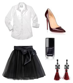 A fashion look from November 2016 featuring sleeve shirts, midi skirts and high heeled footwear. Browse and shop related looks. Christian Louboutin, London, Shoe Bag, My Style, Polyvore, Stuff To Buy, Shopping, Collection, Design