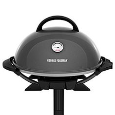 George Foreman Indoor/Outdoor Gun Metal Electric Grill, Silver ** Learn more by visiting the image link. Best Outdoor Electric Grill, Indoor Outdoor Grill, Outdoor Cooking, Electric Grills, George Foreman Electric Grill, George Foreman Grill, Grill Stand, Backyard Cookout, Charcoal Grill