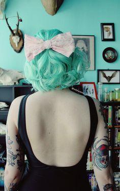 Hair mint hair color, pastel green hair, blue and pink hair, pastel Mint Hair Color, Pastel Green Hair, Bright Hair, Cool Hair Color, Blue Hair, Pastel Mint, Colorful Hair, White Hair, Hair Colors