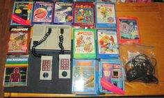 Wholesale Lot Intellivision And 12 Boxed Games Tested Works Hookups Included