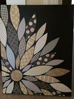 Flower Petal Art made with Scrapbook Paper