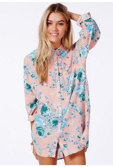 Lydda Boyfriend Shirt In Floral Print