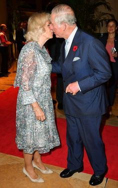 Celebrity PDA of 2017 - December Camilla, Duchess of Cornwall, and Prince Charles shared an atypical public display of affection at the Queen's Commonwealth Baton Relay on Oct. Charles Et Camilla, Charles X, Princess Marie Of Denmark, Princess Mary, Princess Eugenie, Prince Frederik Of Denmark, Prince Of Wales, Camilla Duchess Of Cornwall, Duchess Of Cambridge