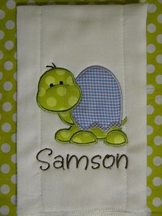 Custom boutique TURTLE baby boy Burp Cloth Personalized applique MONOGRAM on Etsy, $7.99 Personalized Appliques, Custom Boutiques, Appliques Monograms, Boutiques Turtles, Clothing Personalized, Baby Boys, Burp Clothing, Turtles Baby, Boys Burp